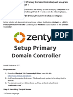 Install Zentyal as PDC (Primary Domain Controller) and Integrate Windows System - Part 1