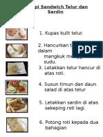 Resepi Sandwich Telur Dan Sardin