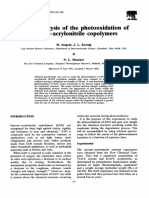FT IR Analysis of the Photooxidation of Styrene Acrylonitrile Copolymers 1993 Polymer Degradation and Stability
