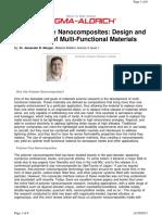 Polymer Clay Nanocomposites