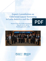 Expert Consultation Colorectal Cancer Screening Latin America & Caribbean