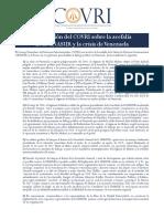 DECLARACION COVRI Sobre Acefalia UNASUR y Crisis Vzla