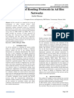 Evaluation of Routing Protocols in Ad Hoc Networks