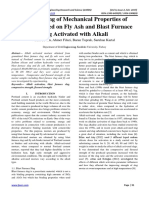 Investigating of Mechanical Properties of Mortars Based on Fly Ash and Blast Furnace Slag Activated with Alkali