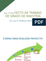 El Proyecto de Trabajo de Grado de Maestría Presentación