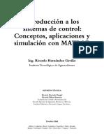 Introducción a Los Sistemas de Control Con MATLAB Parte 1 Hernández Gaviño