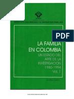 PDF La Familia en Colombia. Un  estado del arte de la investigación. 1980 -1994- vol.1