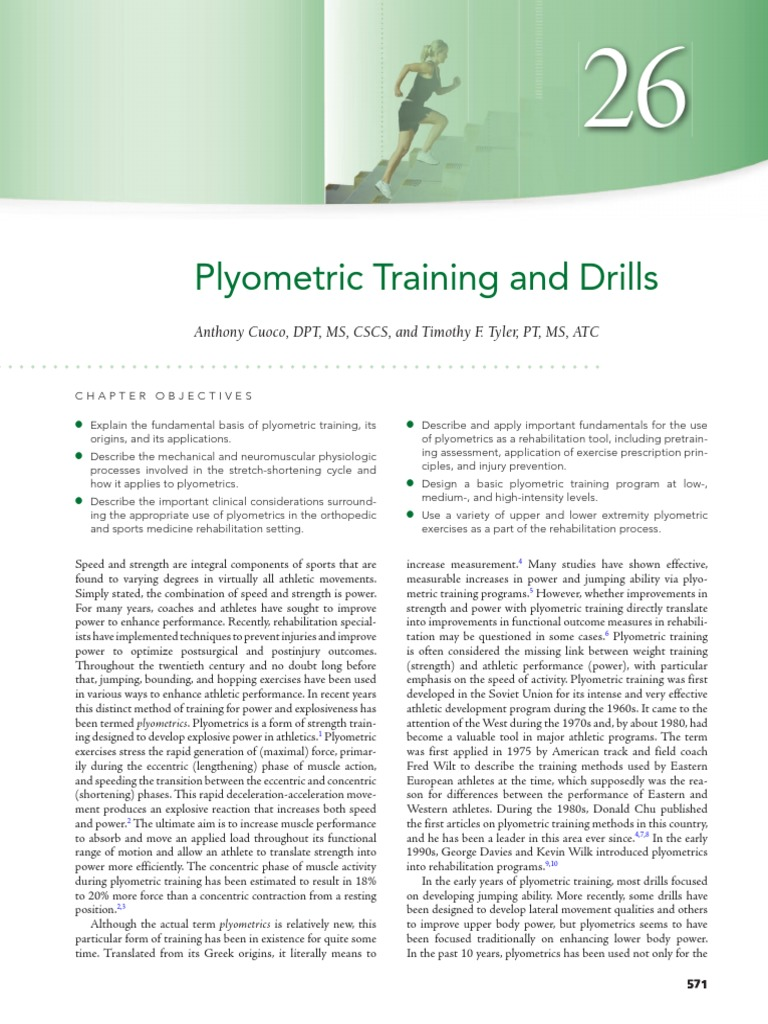 26 – Plyometric Training and Drills | Muscle Contraction
