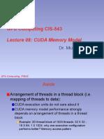 8. CUDA Memory Model