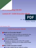 7. CUDA Execution Model