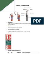 CO2 4.5 Kg Fire Extinguisher