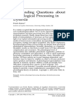 Phonological Processing -Dyslexia