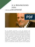 Herejías y Desviaciones Del Camino Neocatecumenal