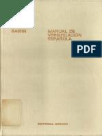 Manual de Versificación Española_Baehr