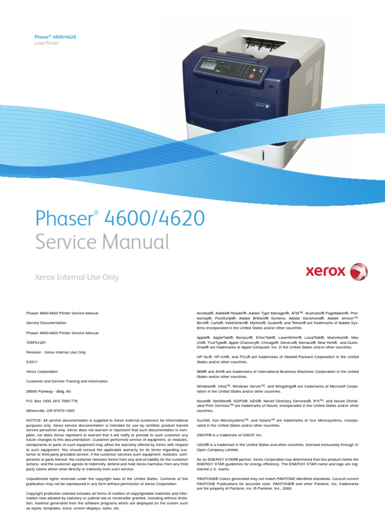 PHaser_4600_SM_705P01287_051111.pdf | Electromagnetic Interference | Ac  Power Plugs And Sockets
