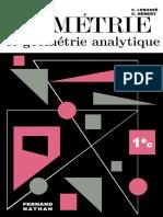 Lebossé, Hémery, Géométrie et Géométrie Analytique, 1re C (1966)