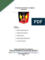 Laporan Bahasa Sunda