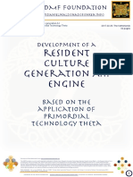 Development of a resident culture generation A.I.  Engine based on  the application of Primordial Technology Theta