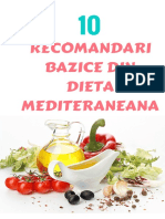 10 Recomandari Bazice Din Dieta Mediteraneana