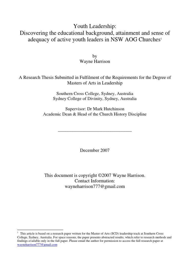 youth leadership research paper leadership mentoring leadership
