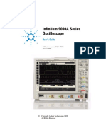 Agilent - Infiniium 9000A Series Oscilloscope (User Guide) - 2009