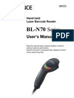 Manual de uso da Leitora BL-N70