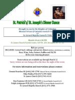 St Patricks & St Joseph's Dinne Dance
