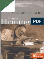 Ernest Hemingway -Al Romper El Alba