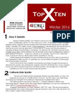 Area X Newsletter - Winter 2016
