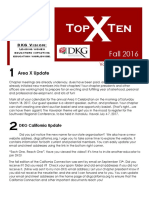 Area X Newsletter - Fall 2016