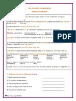 Les Pronoms Personnels Compléments Directs Et Indirects
