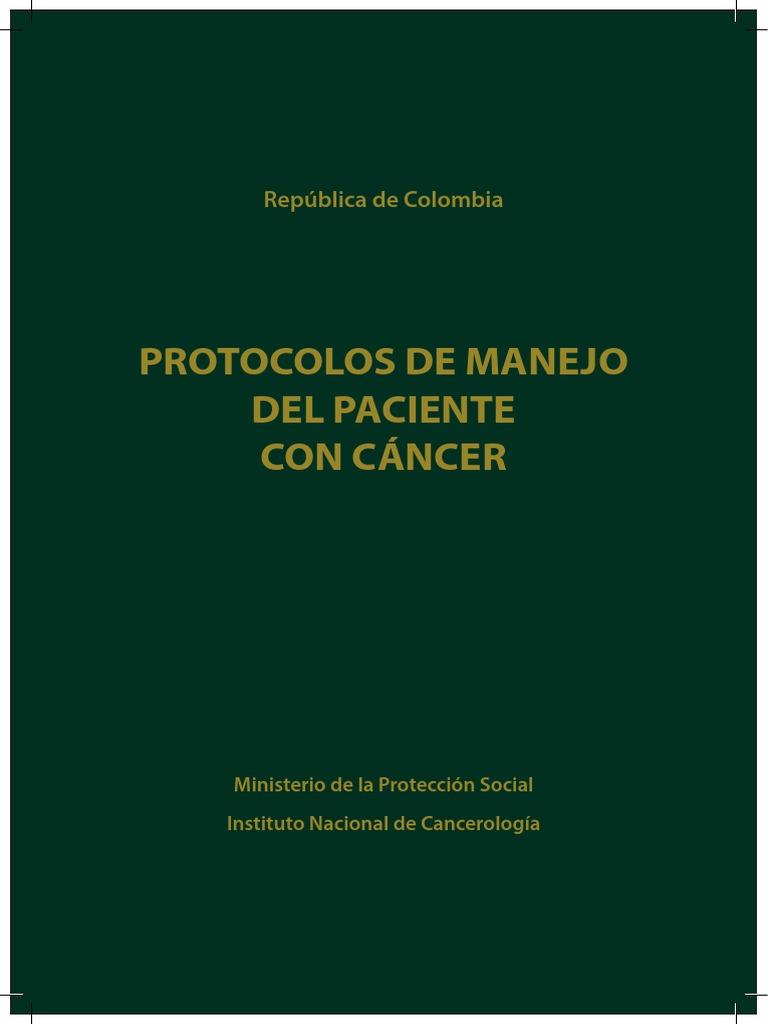 Protocolos de Manejo Del Paciente Con Cáncer