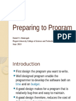 Preparing to Program