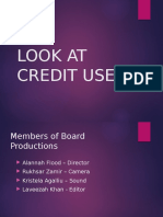 Look at Credit Used