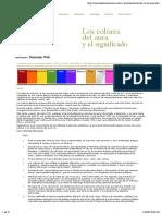 Los Colores Del Aura y Su Significado.