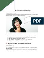 4. Cómo planear tu estudio de mercado