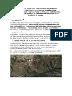 Informe Topográfico y Diseño Geométrico de La Vía Post Construcción