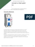 Disyuntor Diferencial e Interruptor Termomagnetico - Taringa!