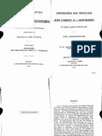 Grundlinien Der Theologie JCK Von Hoffmans