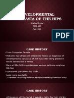 pediatric hip dysplasia case study