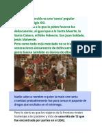 Almita Desconocida Falsa Santa de Mexico Vinculada a Los Narcos
