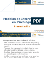 Presentación de Curso Modelos de Intervención en Psicología