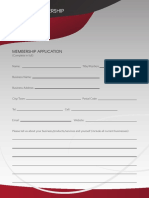 Mastermind Membership Application