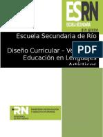 Diseño Curricular Educación en Lenguajes Artísticos - Básico y Orientado - Versión 0