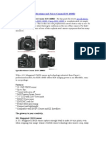 Specifications and Prices Canon EOS 1000D