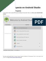 Primer proyecto en Android Studio