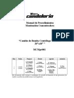 Mcmpr001, Rev 3 Cambio Bomba Centrifuga Warman 20x18