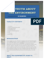 the truth about the environment   smore
