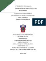 La Legalización de La Mariguana Para Fines Lúdicos