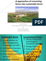 Principles and Approaches of Converting Conventional Farms Into Sustainable Farms